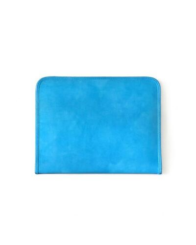Pratesi Dante portfolio for block-notes - R032 Radica Sky Blue