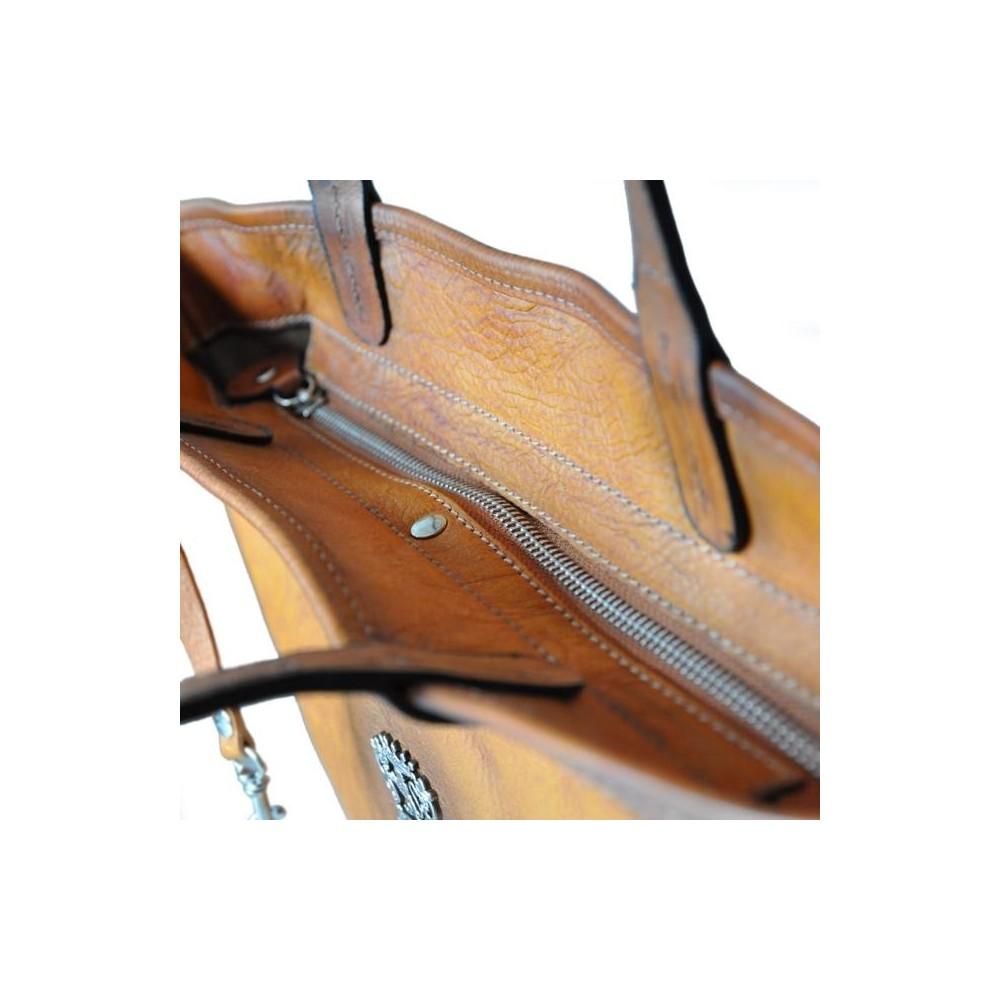 Pratesi Monterchi borsa in vera pelle - B461 Bruce Verde Scuro