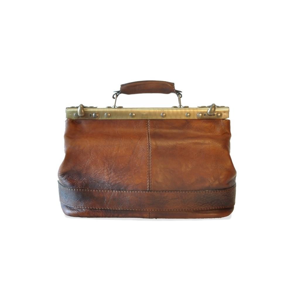 Pratesi San Casciano borsa in vera pelle - B127/35 Bruce Blu