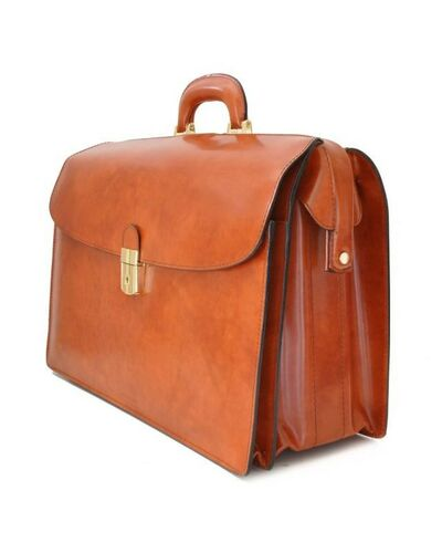Pratesi Leonardo briefcase for laptop - R525/G Radica Chianti