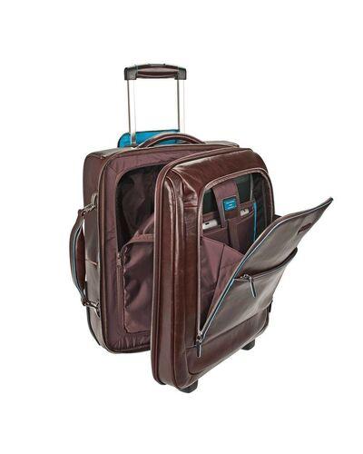 Piquadro Blue Square trolley porta PC formato cabina con porta iPad® e lucchetto, Mogano - CA2496B2/MO