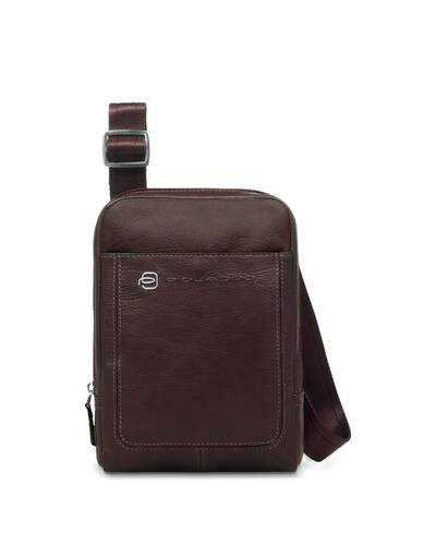 Piquadro Vibe organised shoulder pocketbook with iPad mini compartment, Dark Brown - CA3084VI/TM