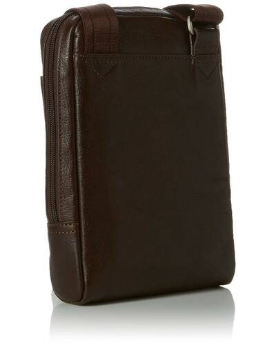 Piquadro Vibe organised shoulder pocketbook with iPad mini compartment, Dark Brown - CA3084VI/TM