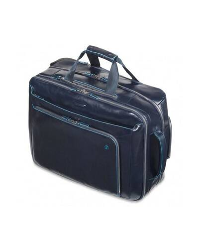 Piquadro Blue Square cabin trolley with doble notebook and iPad/iPad®Air compartment, Black - BV2960B2/N