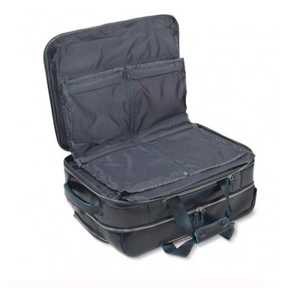 Piquadro Blue Square trolley cabina porta PC e porta iPad/iPad®Air a borsone, Nero - BV2960B2/N