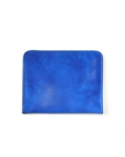 Pratesi Dante portfolio for block-notes - R032 Radica Electric Blue