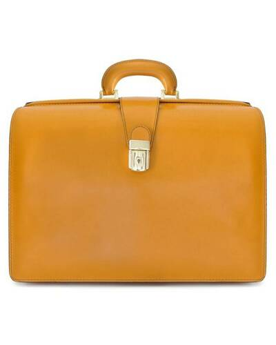 Pratesi Leonardo briefcase for laptop - R525/G Radica Mustard