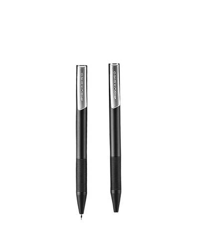 """Piquadro """"Stationery"""" kit ballpoint pen + mechanical pencil with leather pouch, Grey - WR2730P3/CF"""