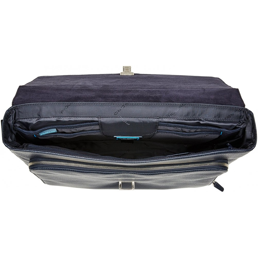 outlet store e4677 cf0bd Piquadro Modus Flap-over, expandable computer bag with iPad®/iPad®Air/Air 2  compartment, Night blue - CA3111MO/BLU