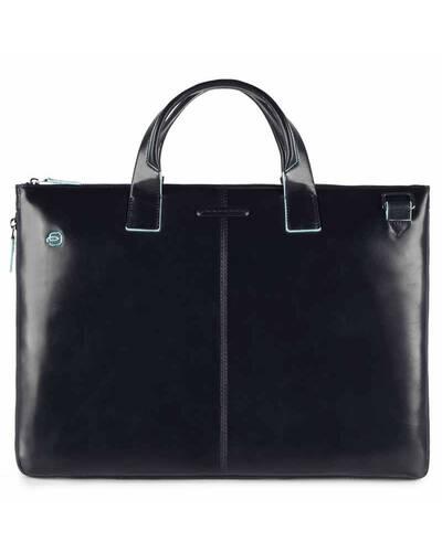 Piquadro Blue Square expandable, slim computer bag with iPad®Air/Pro 9.7 compartment, Blue - CA4021B2/BLU
