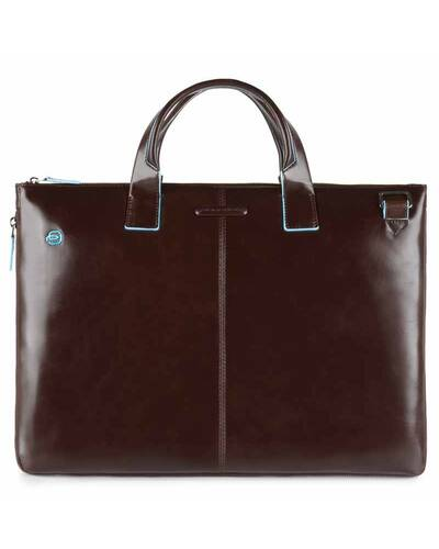 Piquadro Blue Square expandable, slim computer bag with iPad®Air/Pro 9.7 compartment, Brown - CA4021B2/MO
