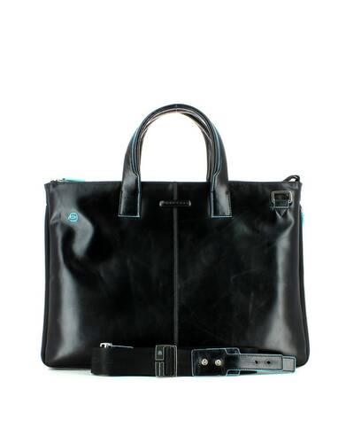 Piquadro Blue Square expandable, slim computer bag with iPad®Air/Pro 9.7 compartment, Black - CA4021B2/N