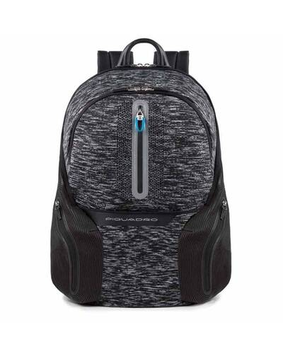 Piquadro Coleos laptop backpack with iPad®Air/Pro 9,7 compartment, USB and micro-USB enclosure, Black - CA2943OS37/N