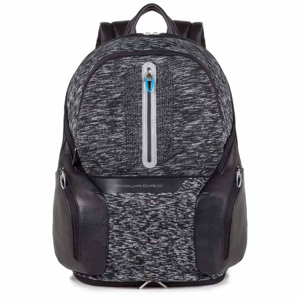 Piquadro BagMotic zaino porta PC e iPad®Air/Pro 9,7 con battery pack, Nero - CA2943OS38BM/N