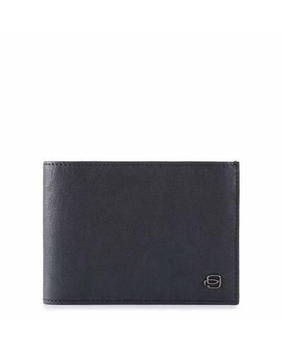 Piquadro Black Square portafoglio da uomo con portamonete in pelle, Blu notte - PU257B3R/BLU