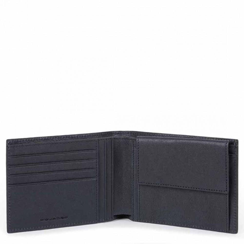 Piquadro black square portafoglio da uomo con portamonete for Portafoglio uomo amazon