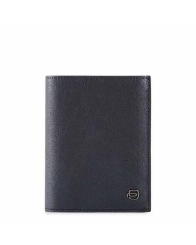 Piquadro Black Square portafoglio uomo verticale in pelle, Blu notte - PU1740B3R/BLU