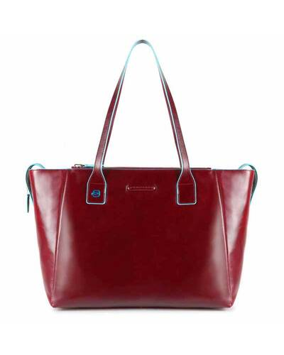 Piquadro Blue Square shopping bag con scomparto porta iPad®Air/Pro 9,7, Rosso - BD3883B2/RO