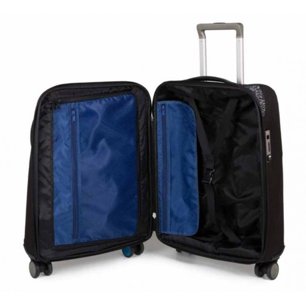 Piquadro BagMotic trolley cabina porta PC e iPad® con manico-bilancia e battery pack, Nero - BV3849BM/N
