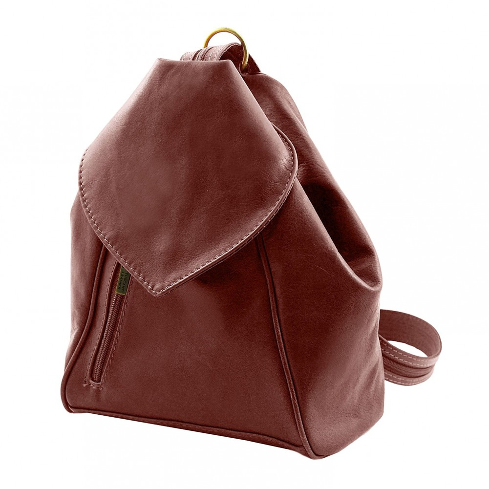 Tuscany Leather - Delhi - Zaino in pelle morbida Testa di Moro - TL140962/5