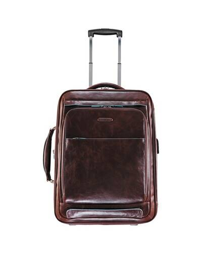 Piquadro Blue Square cabin trolley with doble notebook and iPad compartment, Mahogany - BV2768B2/MO