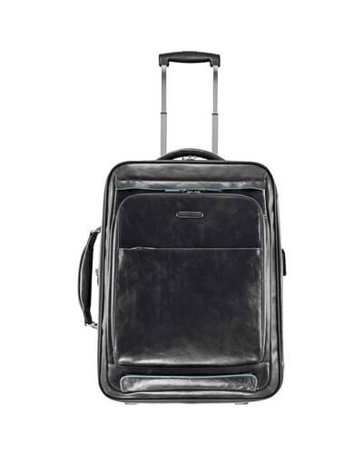 Piquadro Blue Square cabin trolley with doble notebook and iPad compartment, Black - BV2768B2/N