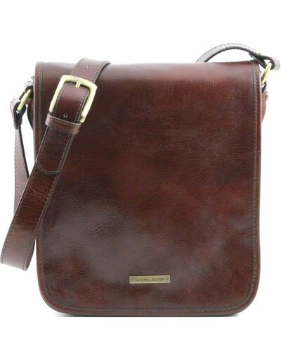 Tuscany Leather - TL Messenger - Borsa a tracolla 2 scomparti Marrone - TL141255/1