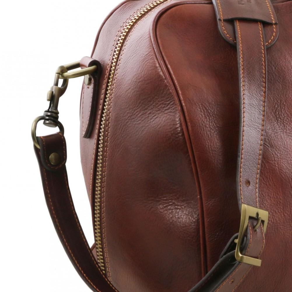 Tuscany Leather Lisbona Travel leather duffle bag - Large size Brown - TL141657/1