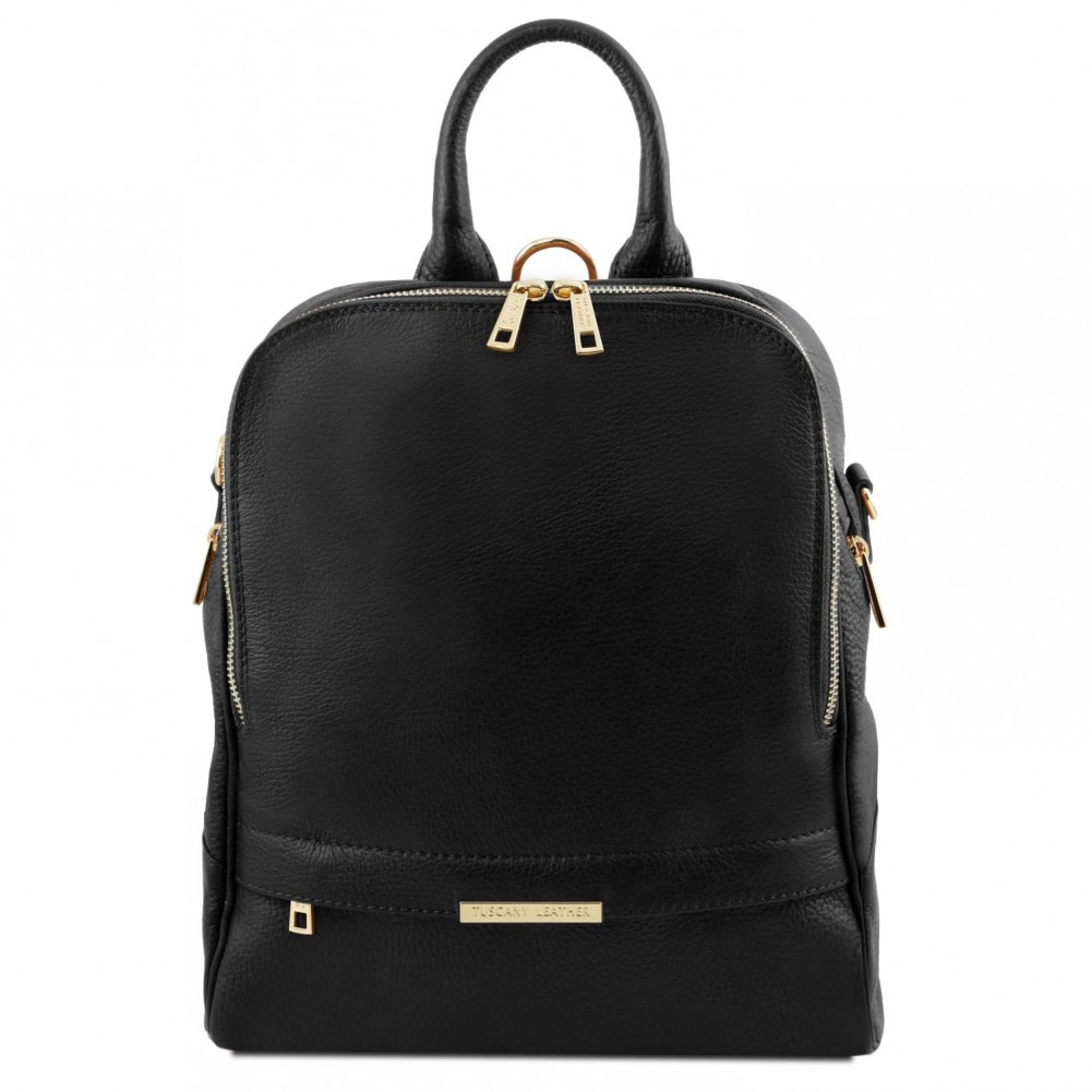 Tuscany Leather Tl Bag Soft Backpack For Women Black Tl141376 2