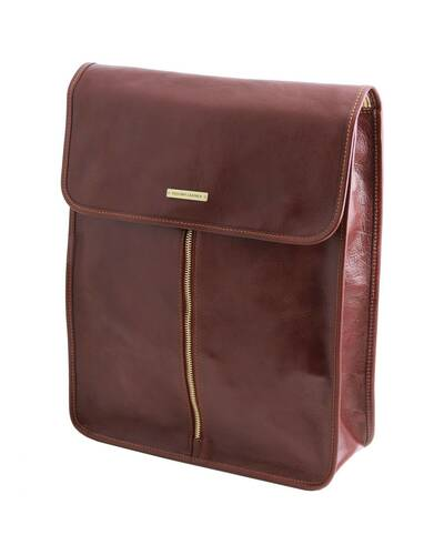 Tuscany Leather - Exclusive leather shirt case Dark Brown - TL141307/5