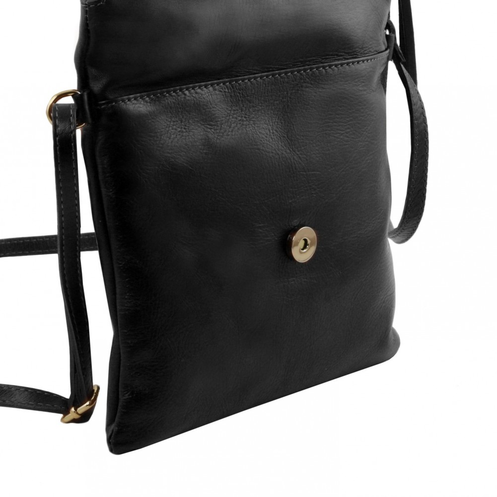 Tuscany Leather - TL Young Bag - Borsa a tracolla con nappa Nero - TL141153/2