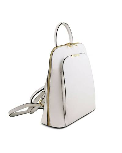 Tuscany Leather TL Bag - Zaino donna in pelle Saffiano Bianco - TL141631/11