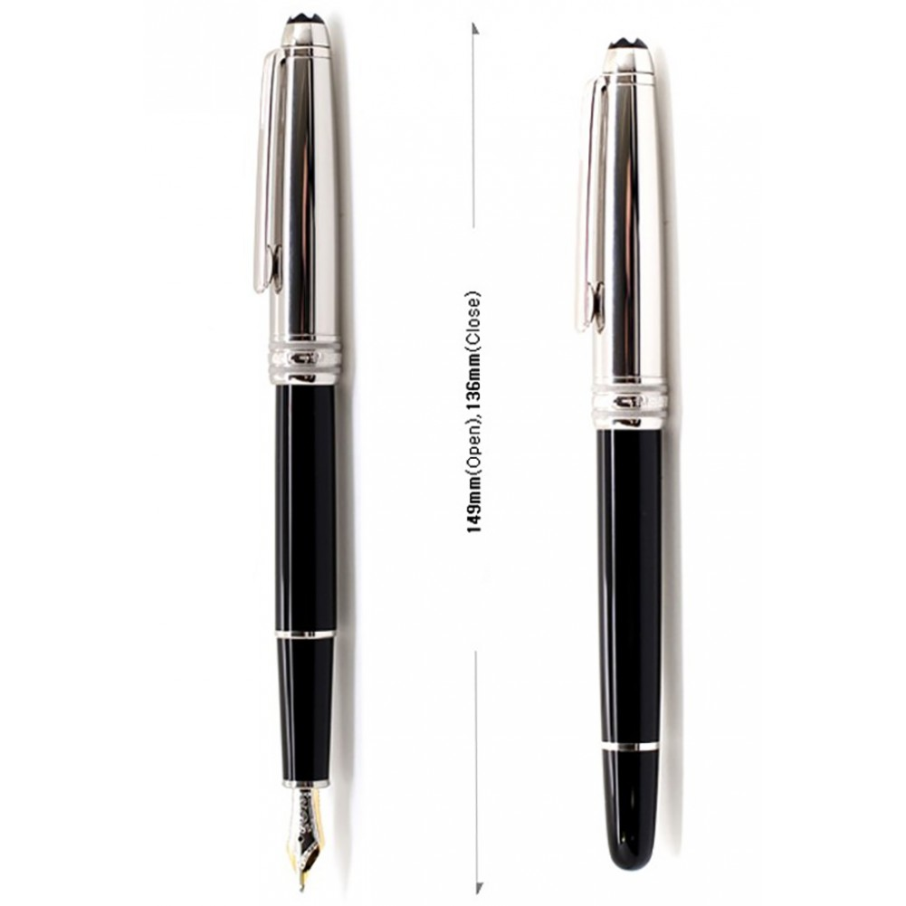 Montblanc Stilografica Meisterstück collezione Solitaire Doué Stainless Steel - MB23344