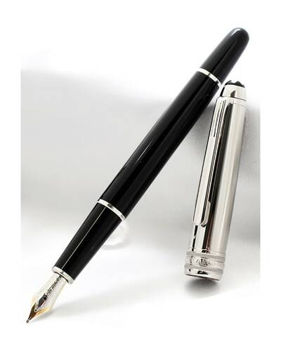 Montblanc Fountain pen Meisterstück collection Solitaire Doué Stainless Steel - MB23344