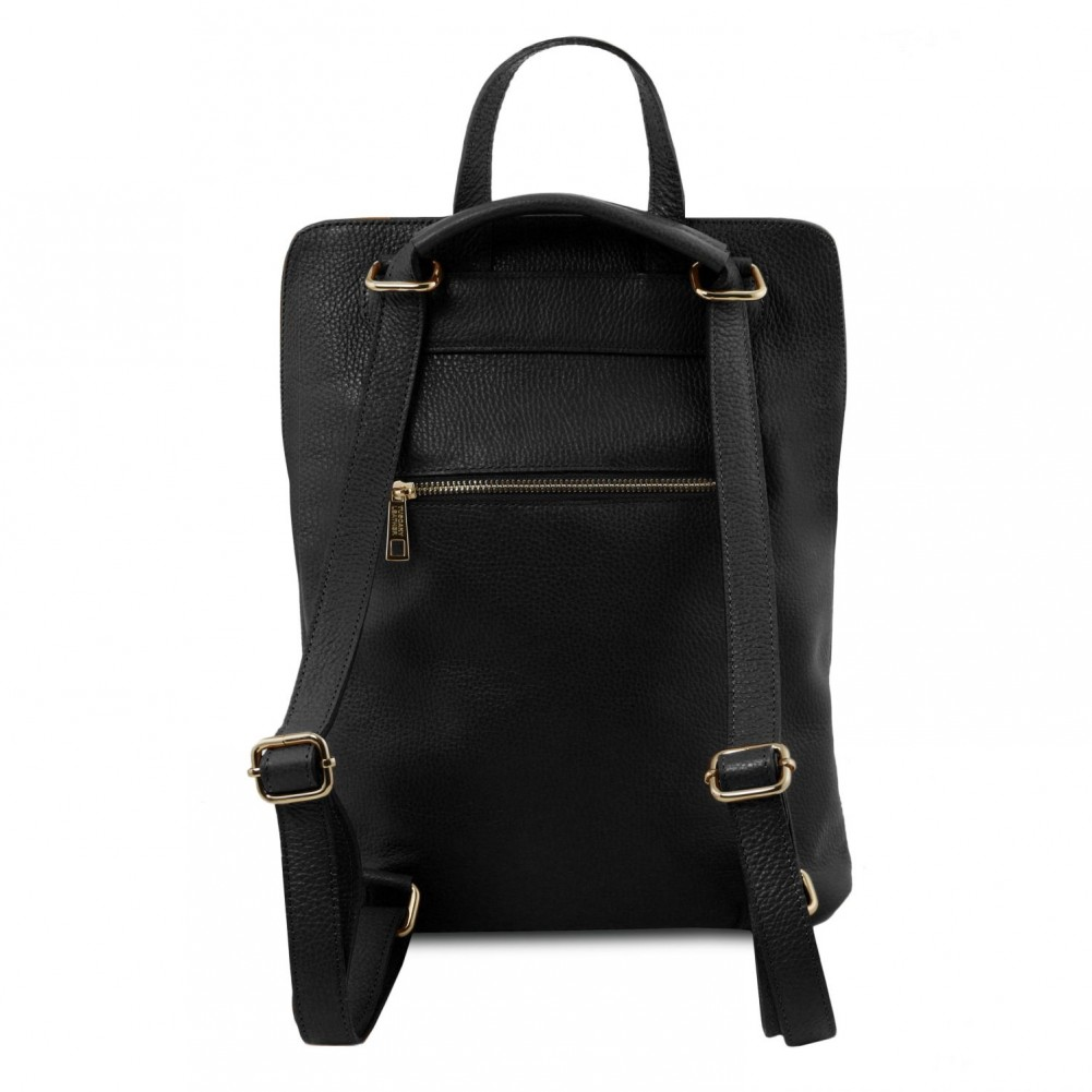 Tuscany Leather Tl Bag Soft Backpack For Women Black Tl141682 2