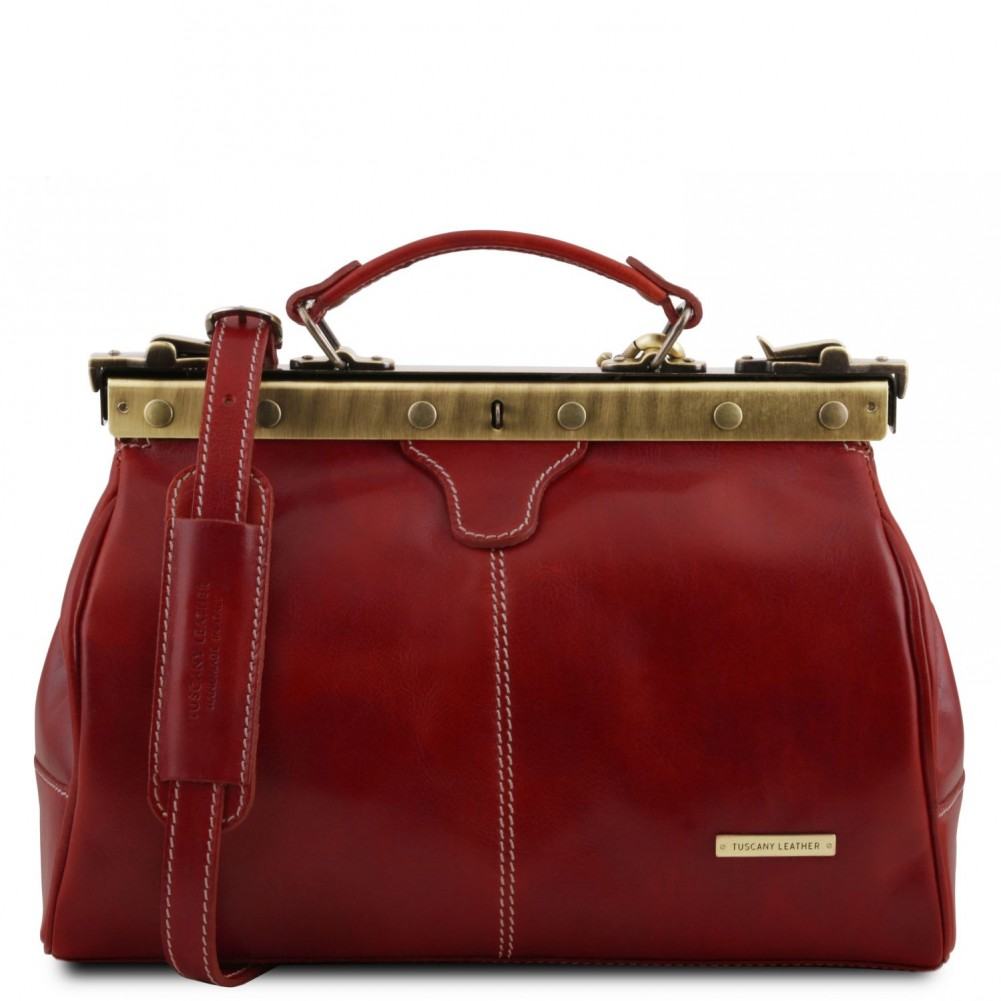 Tuscany Leather - Michelangelo - Borsa medico in pelle Rosso - TL10038/4