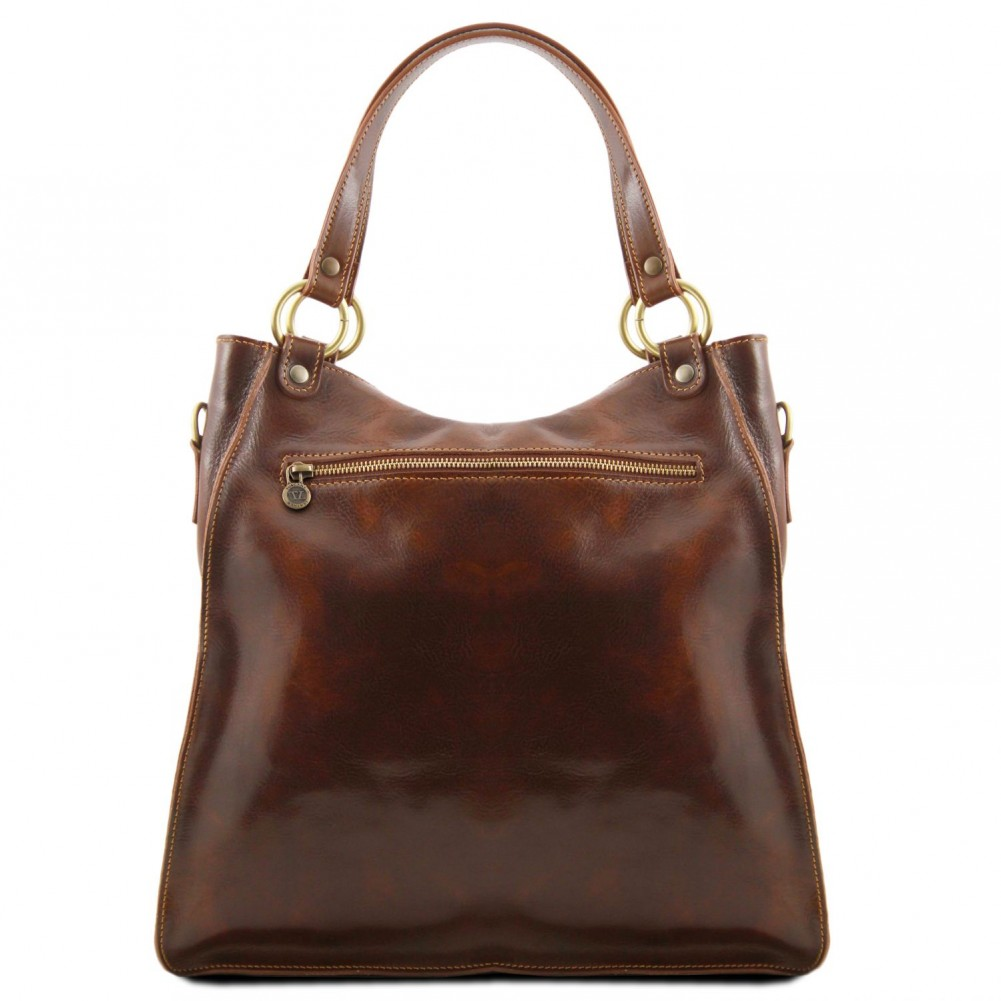 Tuscany Leather - Melissa - Borsa donna in pelle Testa di Moro - TL140928/5