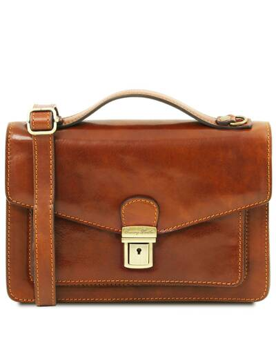 Tuscany Leather Eric - Leather Crossbody Bag Honey - TL141443/3
