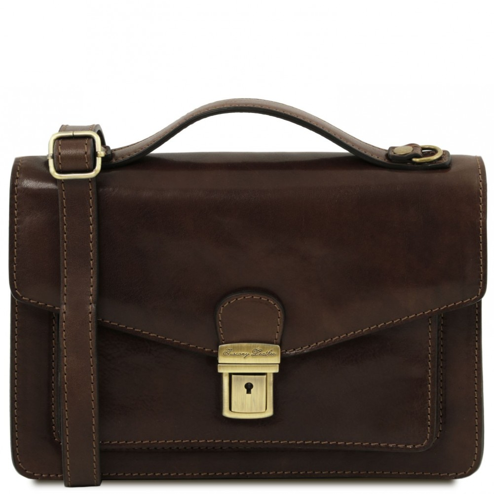 Tuscany Leather Eric Crossbody Bag Dark Brown Tl141443 5