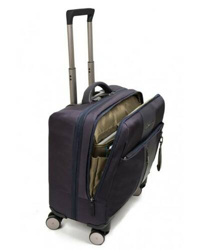 Piquadro Brief trolley briefcase with USB and micro-USB plate and ready for CONNEQU, Blue - CA4446BRBM/BLU