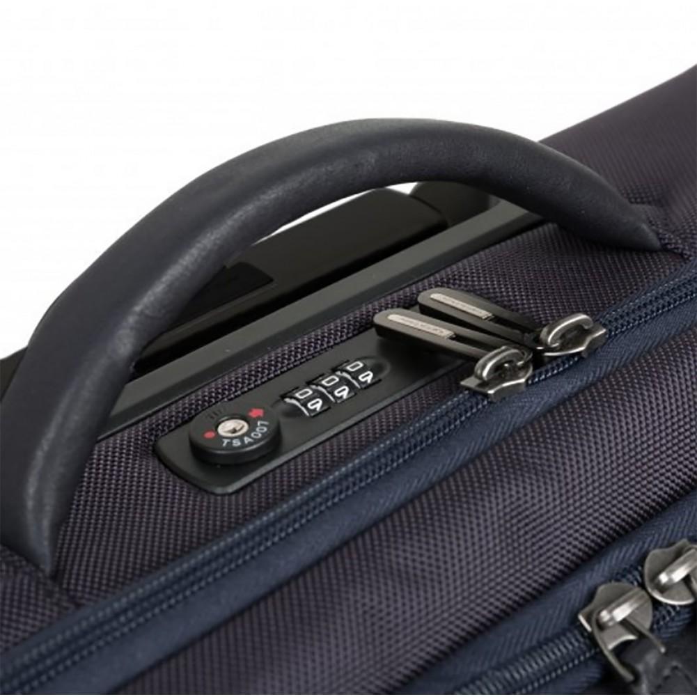 Piquadro Brief cartella trolley porta PC, con placca USB e Micro-USB, Blu - CA4446BRBM/BLU