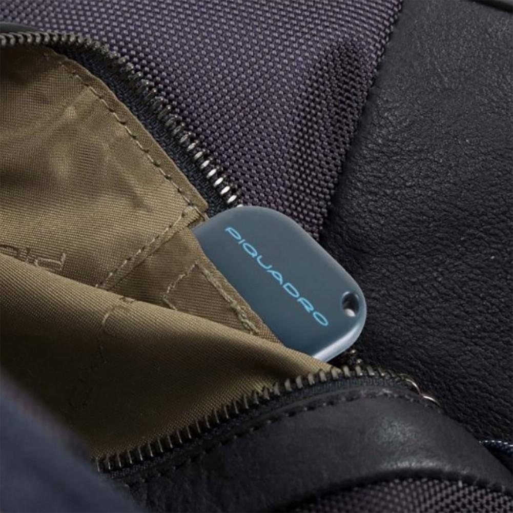 Piquadro Brief cartella trolley porta PC, con placca USB e Micro-USB e predisposizione per CONNEQU, Blu - CA4446BRBM/BLU
