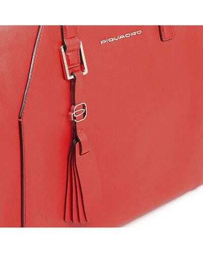 Piquadro Muse iPad®Air/Pro 9,7 women's bag with removable shoulder strap, Red - BD4326MU/RO