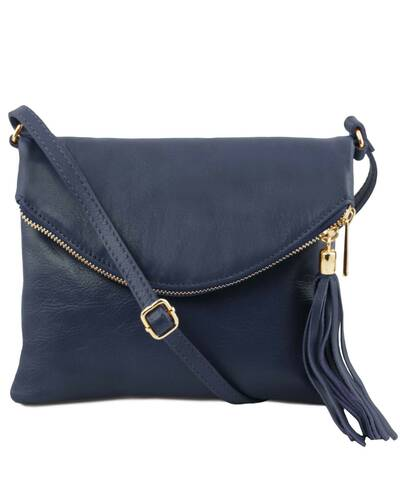 Tuscany Leather - TL Young Bag - Borsa a tracolla con nappa Blu scuro - TL141153/107