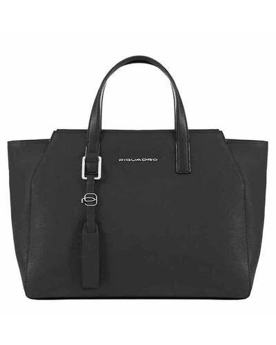 Piquadro Muse iPad®Air/Pro 9,7 women's bag with removable shoulder strap, Black - BD4326MU/N