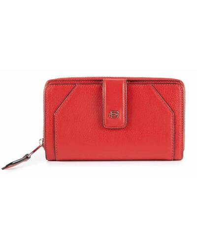 Piquadro Muse women's wallet with coin case and RFID anti-fraud protection, Red - PD1354MUR/RO