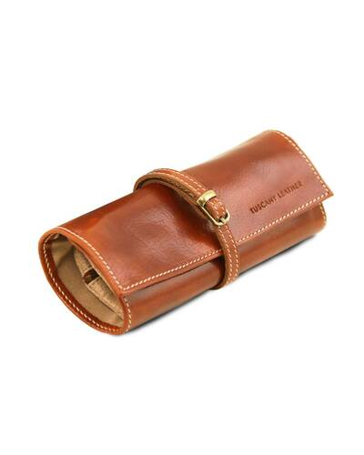 Tuscany Leather Exclusive Leather Jewellery case Honey - TL141621/3