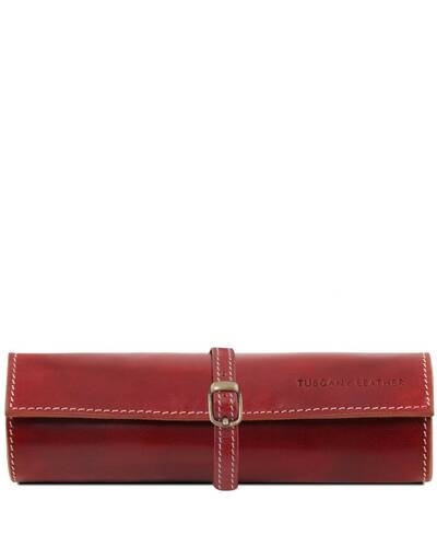 Tuscany Leather Exclusive Leather Jewellery case Red - TL141621/4