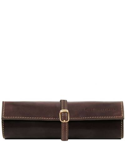 Tuscany Leather Exclusive Leather Jewellery case Dark Brown - TL141621/5