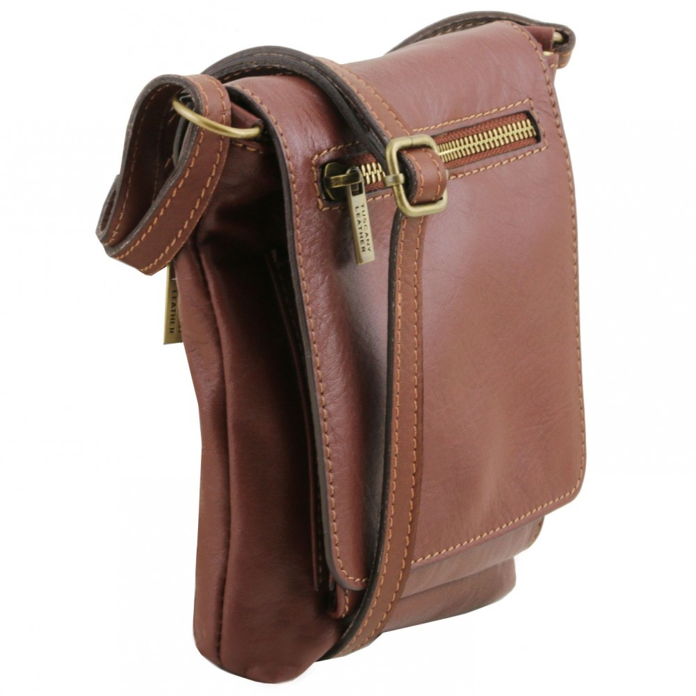 Tuscany Leather Sasha - Borsello unisex in pelle morbida Cognac - TL141510/6